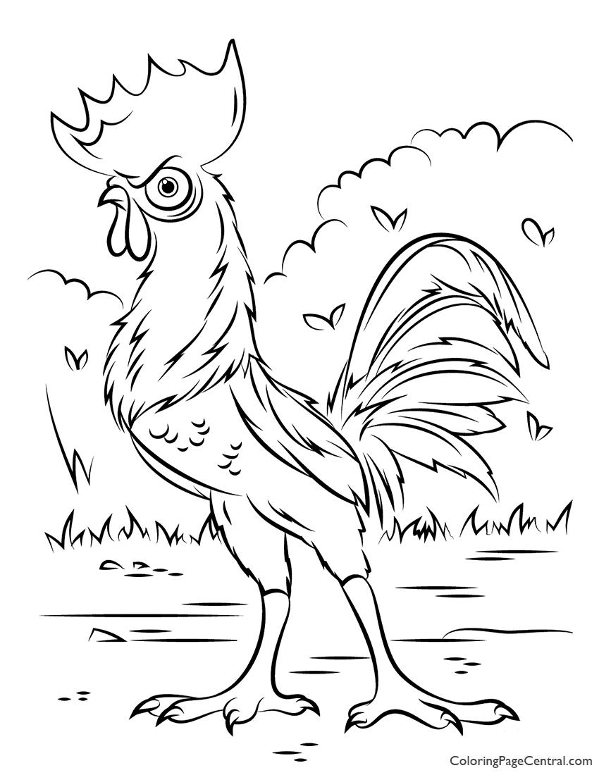 Moana - HeiHei Chicken Coloring Page