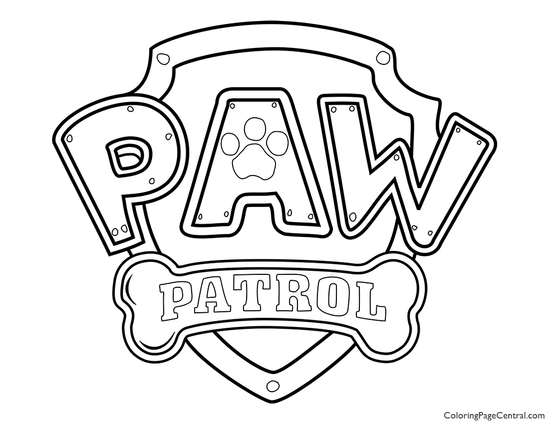 Paw Patrol Coloring Page 01