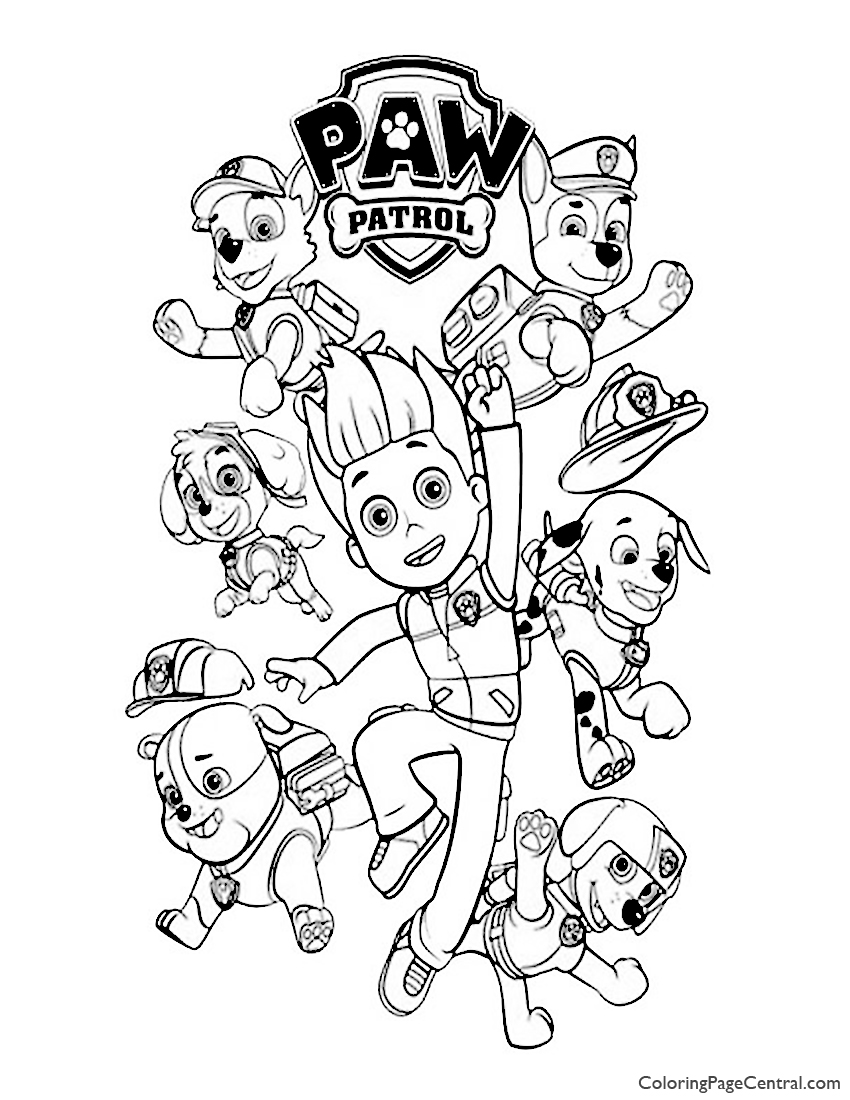 Paw Patrol Coloring Page 02 Coloring