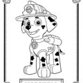Paw Patrol - Marshall Coloring Page