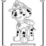Paw Patrol - Marshall Coloring Page
