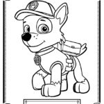 Paw Patrol - Rocky Coloring Page