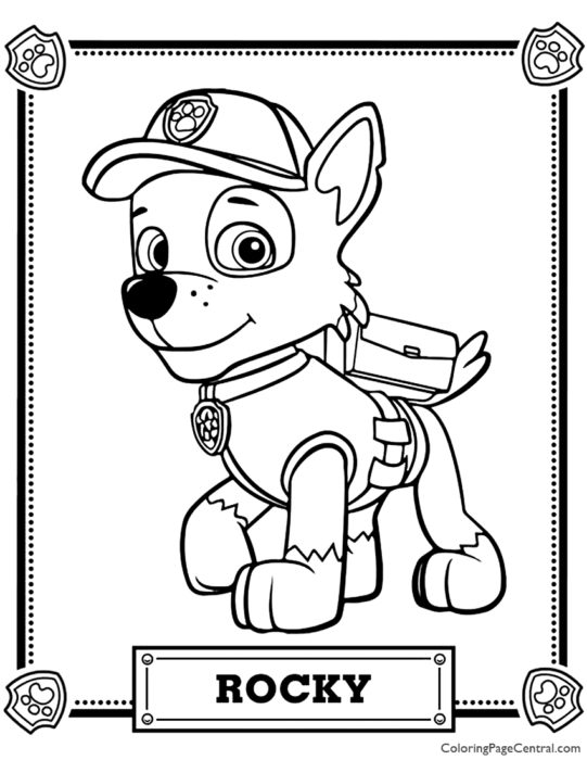 Paw Patrol – Rocky Coloring Page