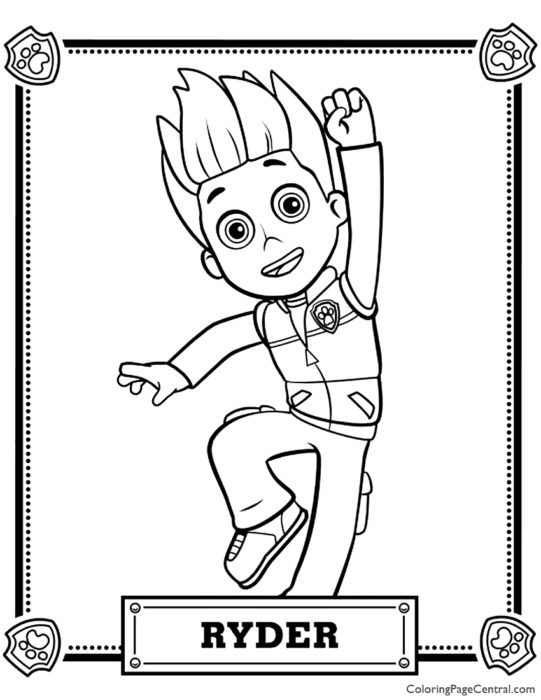 Paw Patrol – Ryder Coloring Page
