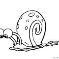 Spongebob - Gary Coloring Page