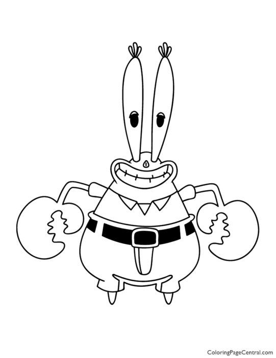 Spongebob - Mr Krabs Coloring Page