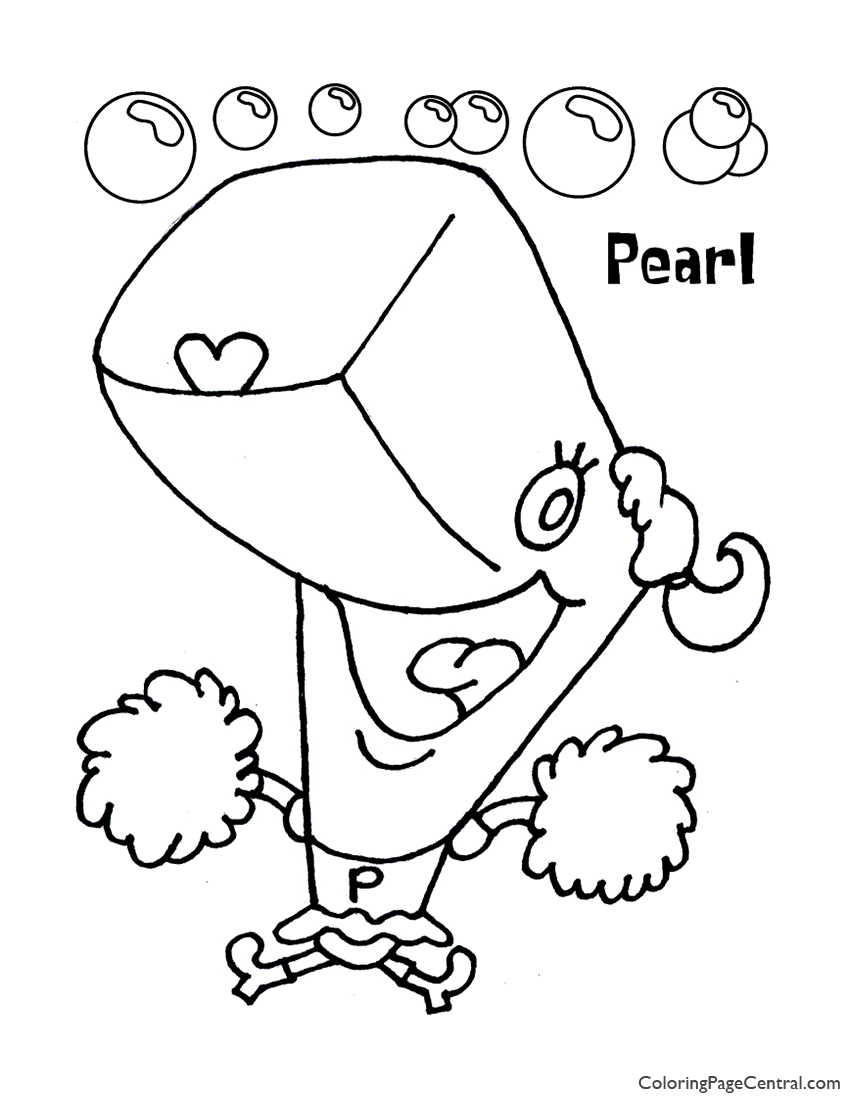Spongebob Pearl Coloring Page 01 Coloring Page Central