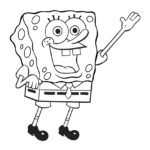 Spongebob Squarepants Coloring Page 01