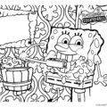 Spongebob Squarepants Coloring Page 02