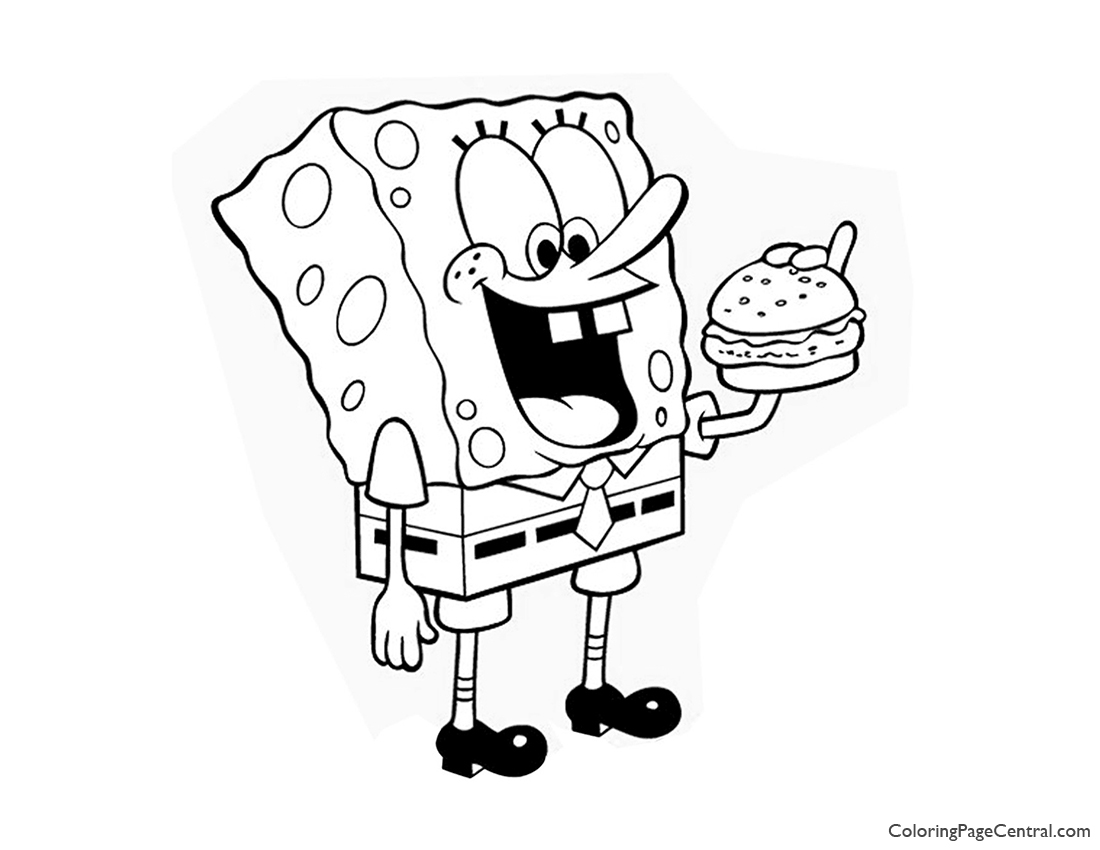 Spongebob Squarepants Coloring Page 03 | Coloring Page Central
