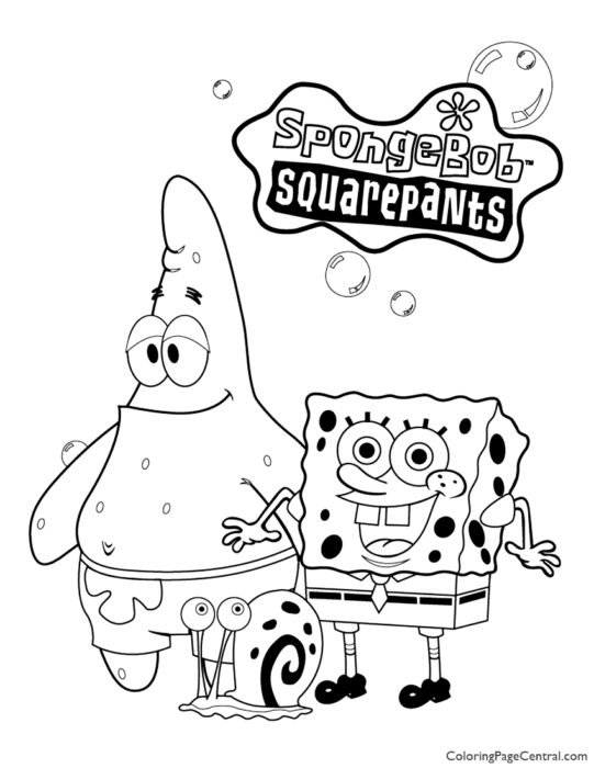 Spongebob Squarepants Coloring Page 08
