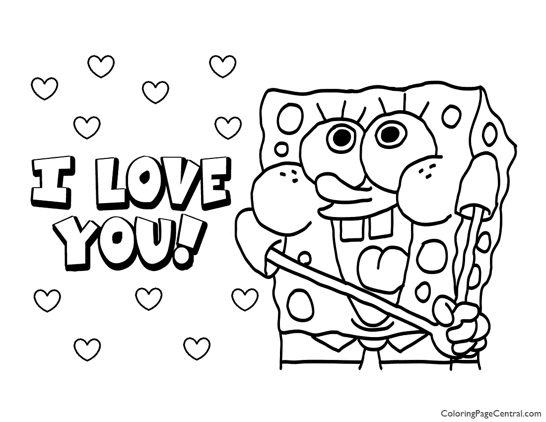 Spongebob Squarepants Coloring Page 09 | Coloring Page Central