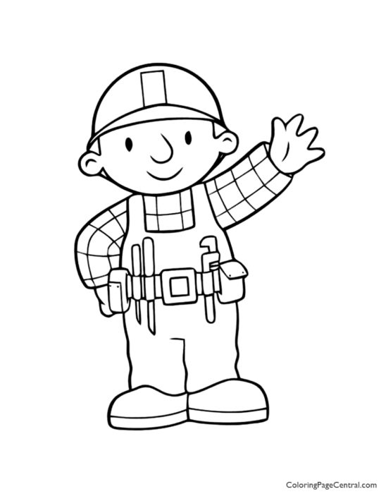 Bob the Builder Coloring Page 01