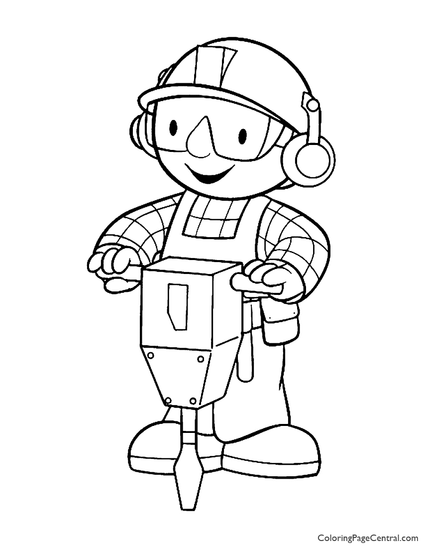Bob The Builder Coloring Page 02 Central