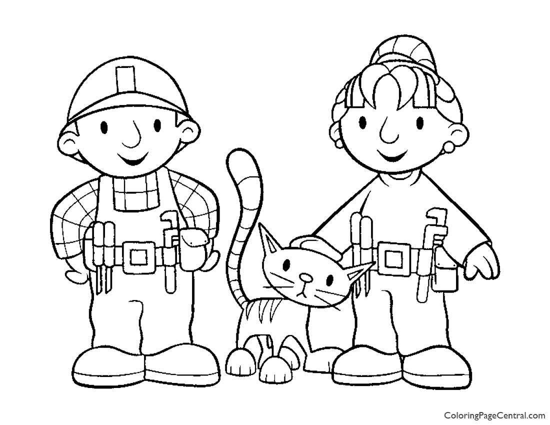 Bob The Builder Coloring Page 03 Central