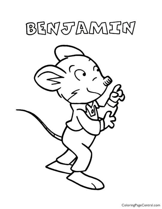 Geronimo Stilton - Benjamin Coloring Page