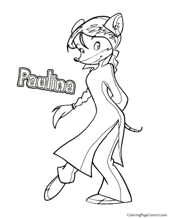 Geronimo Stilton - Paulina Coloring Page