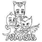 PJ Masks Coloring Page 01