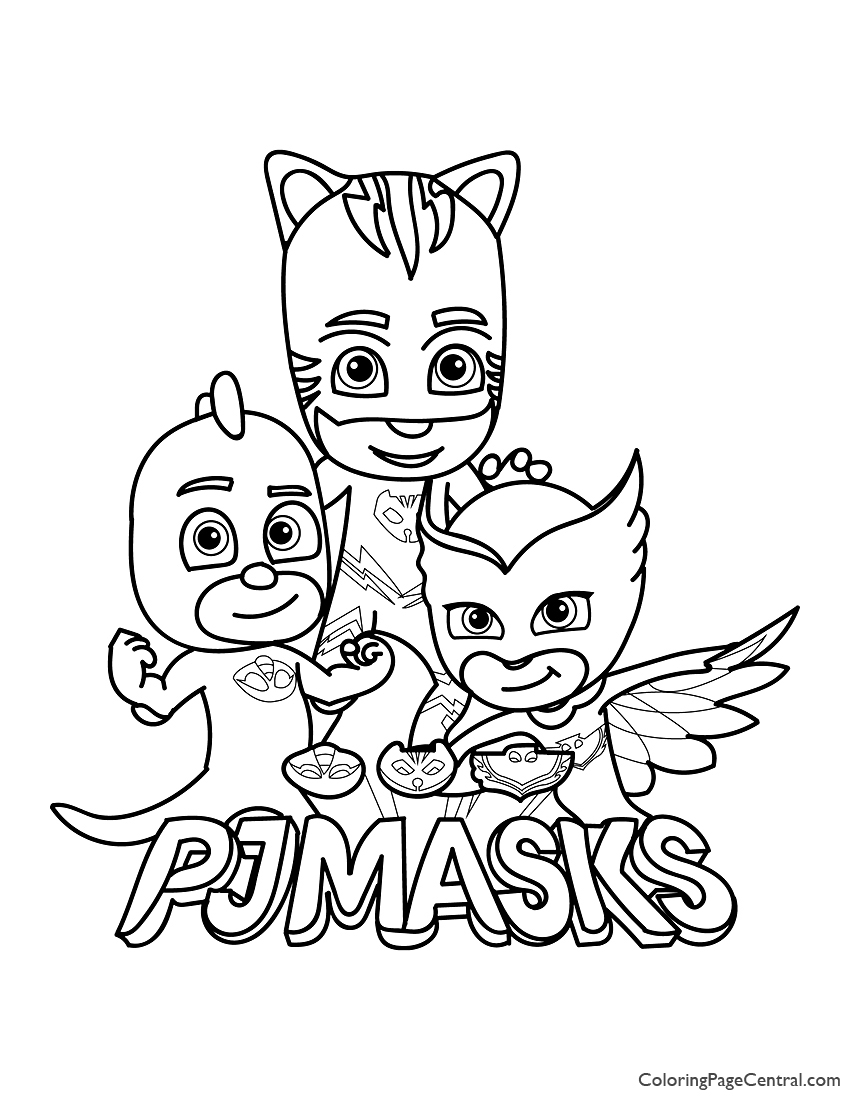 It is a graphic of Pj Masks Printable Coloring Pages pertaining to nursery
