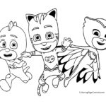 PJ Masks Coloring Page 02