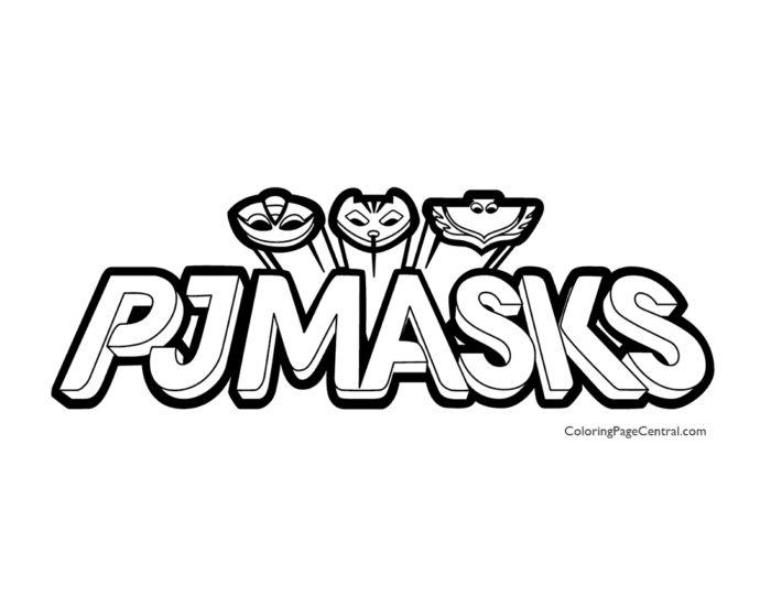 PJ Masks – Logo Coloring Page