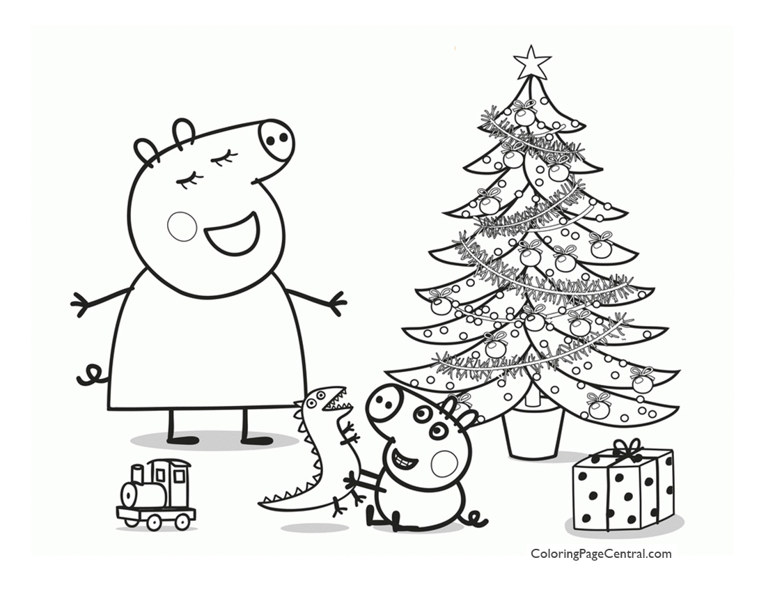 Peppa Pig Coloring Page 01 Coloring Page Central