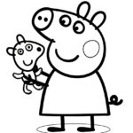 Peppa Pig Coloring Page 02