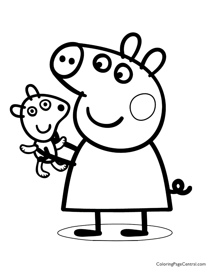 Peppa Pig Coloring Page 02 | Coloring Page Central