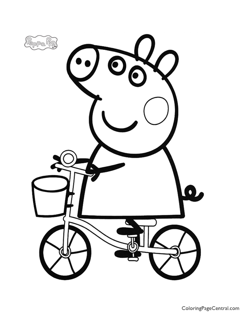 Peppa Pig Coloring Page 03 | Coloring Page Central