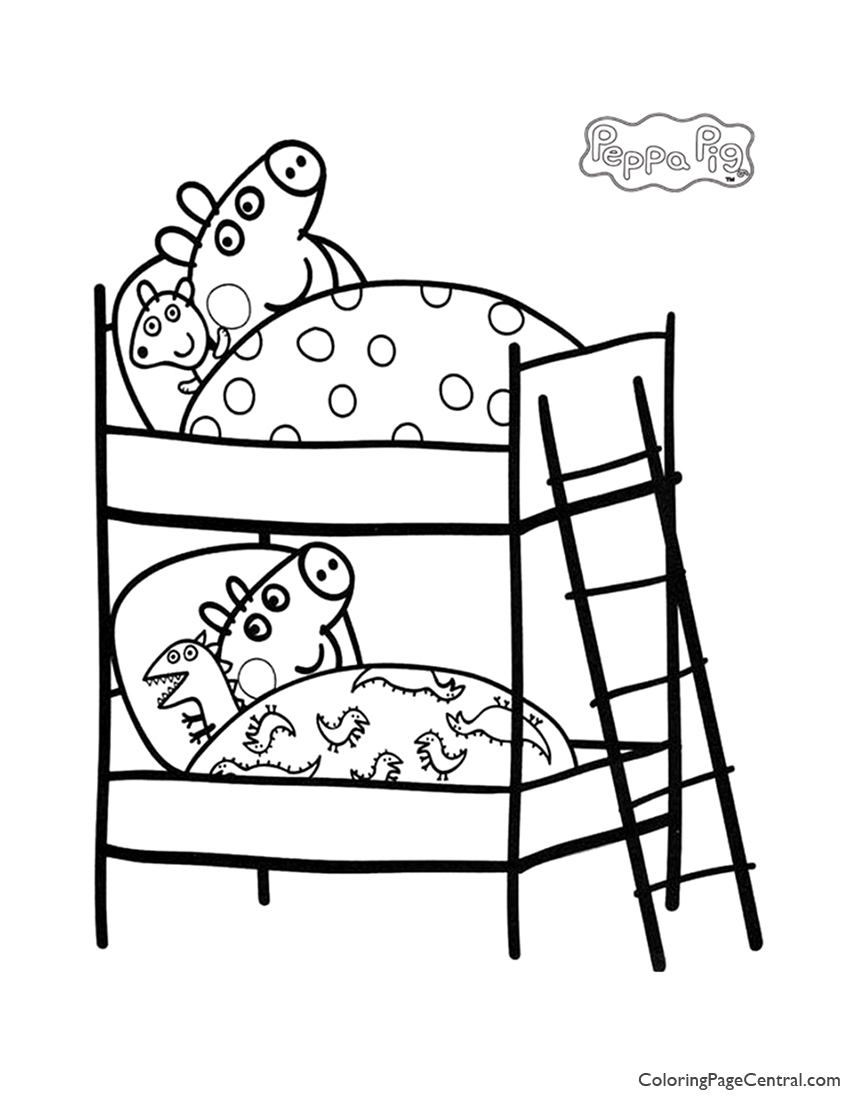 Peppa Pig Coloring Page 04 | Coloring Page Central