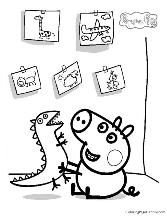 Peppa Pig Coloring Page 06