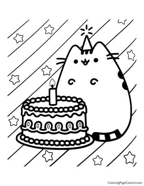 Pusheen Coloring Page 01