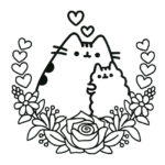 Pusheen Coloring Page 04