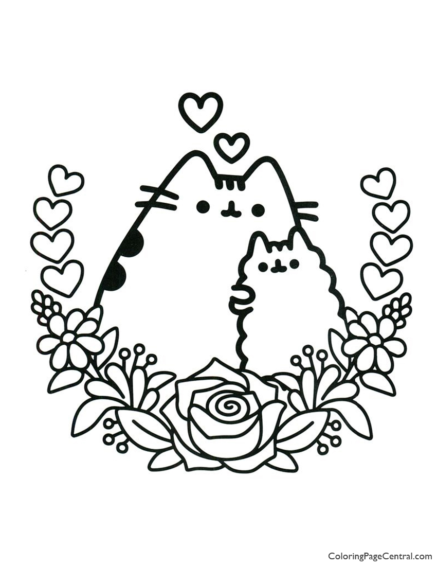 Pusheen Coloring Page 04 Coloring Page Central