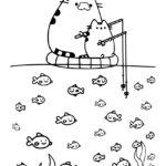 Pusheen Coloring Page 08