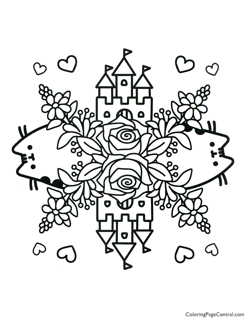 Pusheen Coloring Page 09