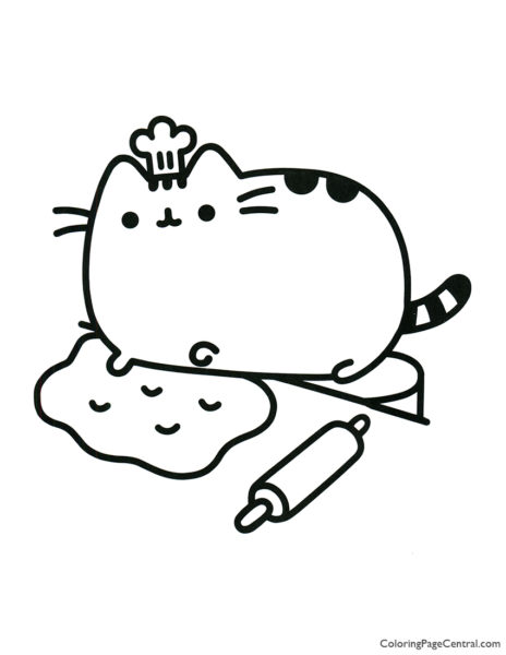 Pusheen Coloring Page 10