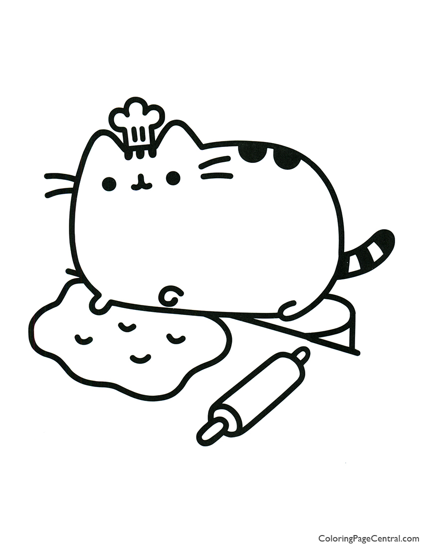 It is a photo of Transformative Printable Pusheen Coloring Pages