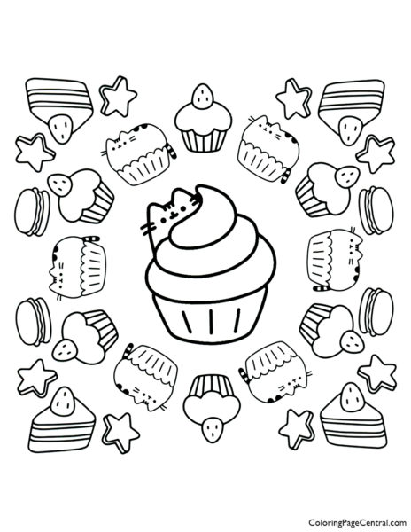 Pusheen Coloring Page 12
