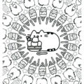 Pusheen Coloring Page 13