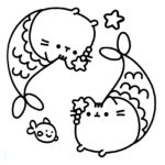 Pusheen Coloring Page 14
