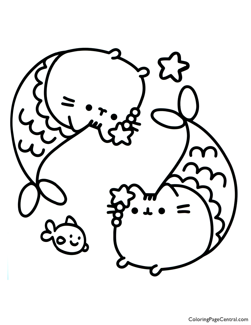 picture about Pusheen Coloring Pages Printable titled Pusheen Coloring Webpages No cost Printable