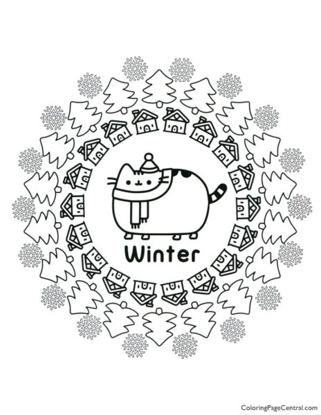 Pusheen Coloring Page 15