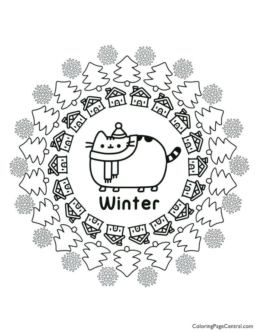 Pusheen Coloring Page 15 Coloring Page Central