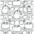 Pusheen Coloring Page 16