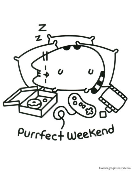 Pusheen Coloring Page 17