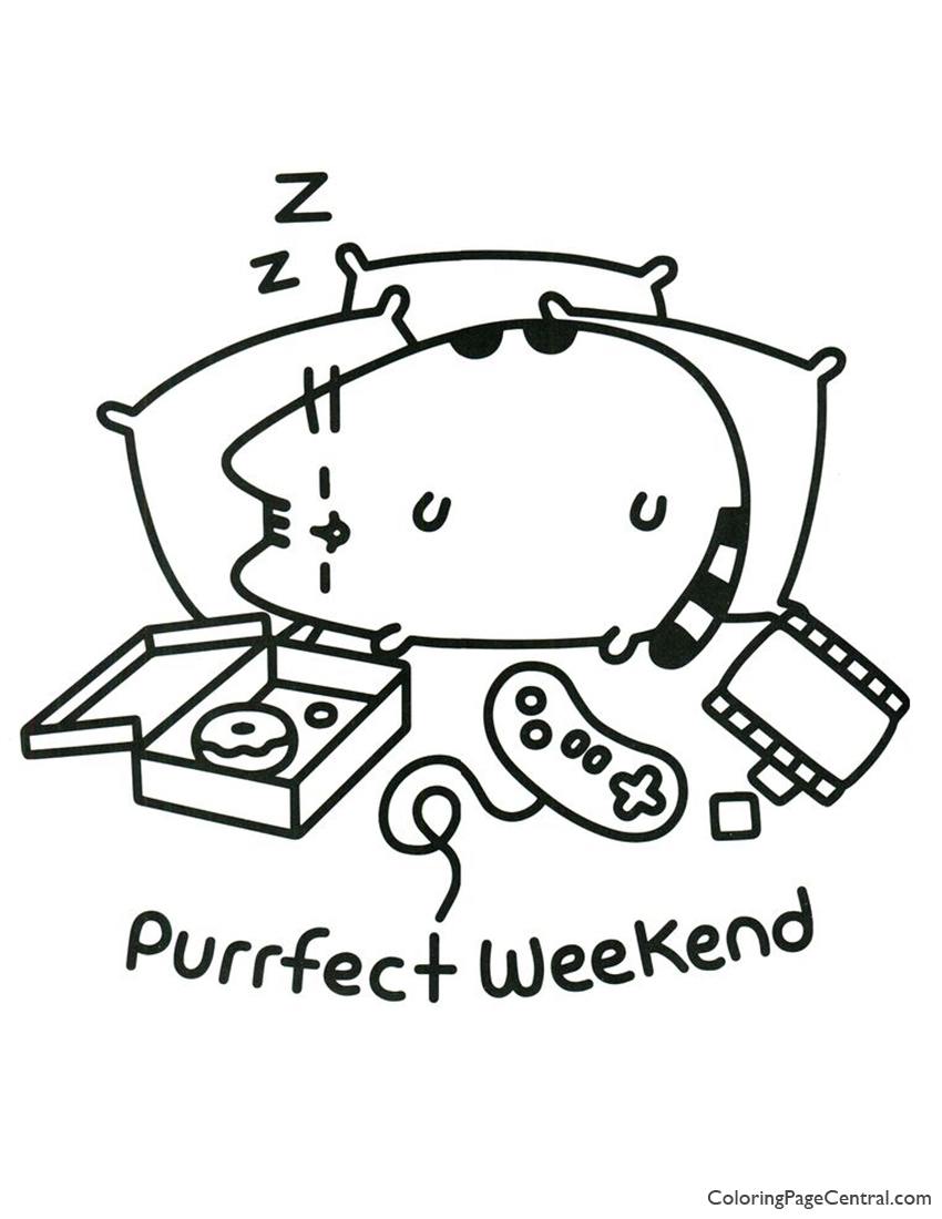 Pusheen Coloring Page 17 Coloring Page Central