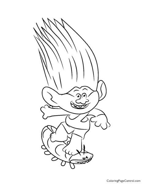 Trolls - Aspen Heitz Coloring Page