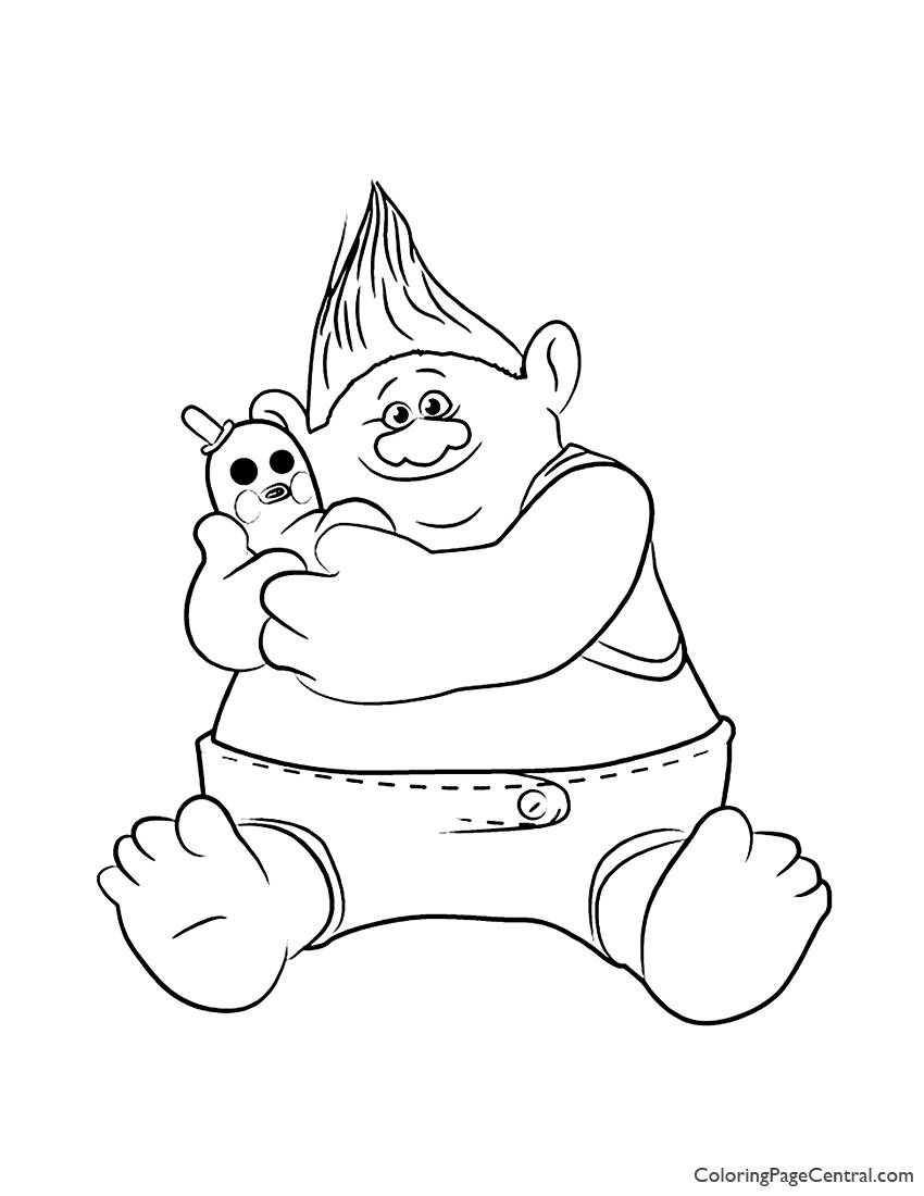 Trolls - Biggie Coloring Page