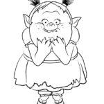 Trolls - Bridget Coloring Page 01